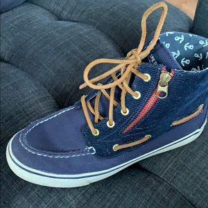 Sperry Top-Sider Navy Blue Corduroy and Canvas 7.5